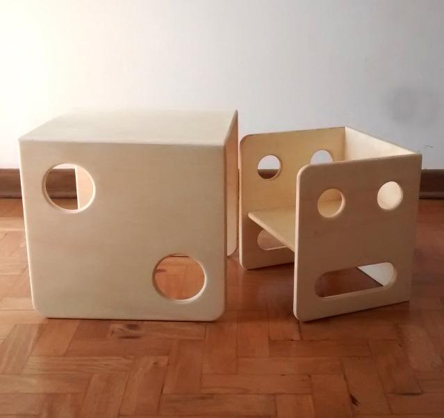 mesa e cadeira pitoco
